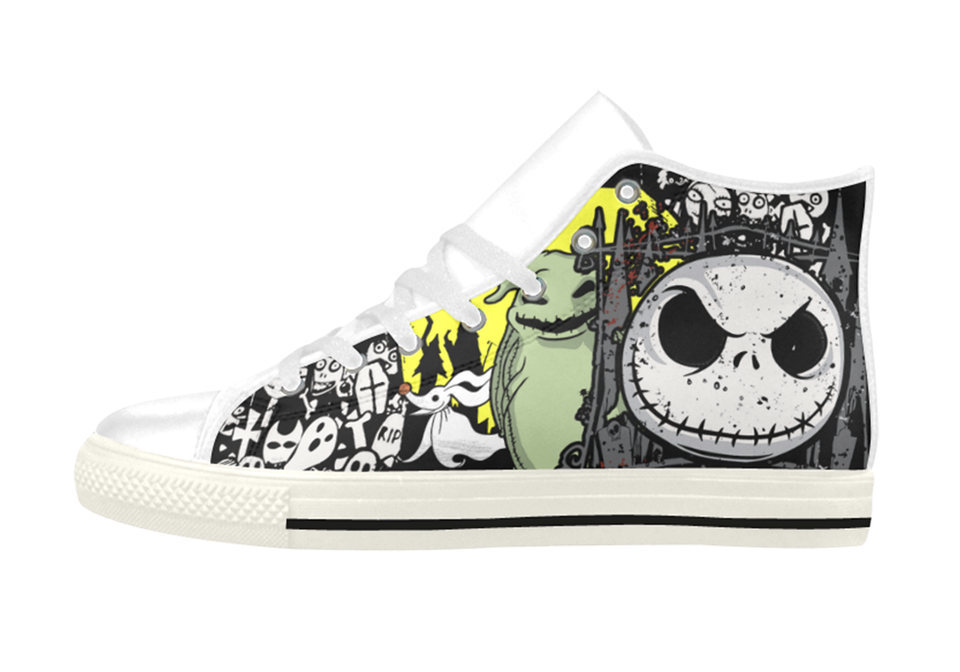 Jack's Halloween Leather Shoes Women's / 6 / White, Shoes - spreadlife, SpreadShoes  - 2