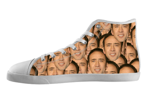 Nicolas Cage Pattern Shoes Kid's / 1 / White, Shoes - spreadlife, SpreadShoes