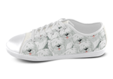 Old English Sheepdog Shoes Women's Low Top / 5 / White, Shoes - spreadlife, SpreadShoes  - 3