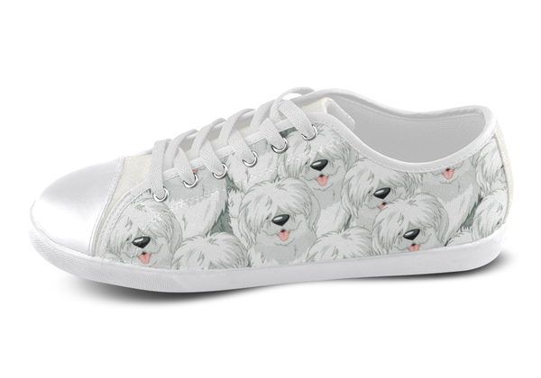 Old English Sheepdog Low Top Shoes