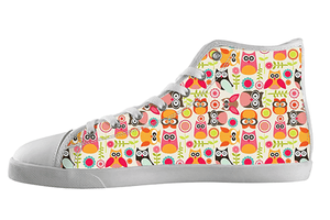 Owl Pattern Shoes Kid's / 1 / White, Shoes - spreadlife, SpreadShoes  - 1