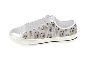 Poodle Shoes Women's Low Top / 6 / White, Shoes - spreadlife, SpreadShoes  - 3