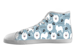 Samoyed Shoes Women's High Top / 5 / White, Shoes - spreadlife, SpreadShoes  - 1