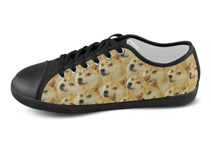 Shiba Inu Shoes Women's Low Top / 5 / Black, Shoes - spreadlife, SpreadShoes  - 5