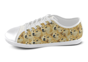 Shiba Inu Shoes Women's Low Top / 5 / White, Shoes - spreadlife, SpreadShoes  - 4