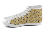 Shiba Inu Shoes Women's High Top / 5 / White, Shoes - spreadlife, SpreadShoes  - 1