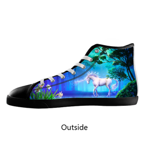 Unicorn High Top Shoes Women's / 5 / Black, Shoes - spreadlife, SpreadShoes