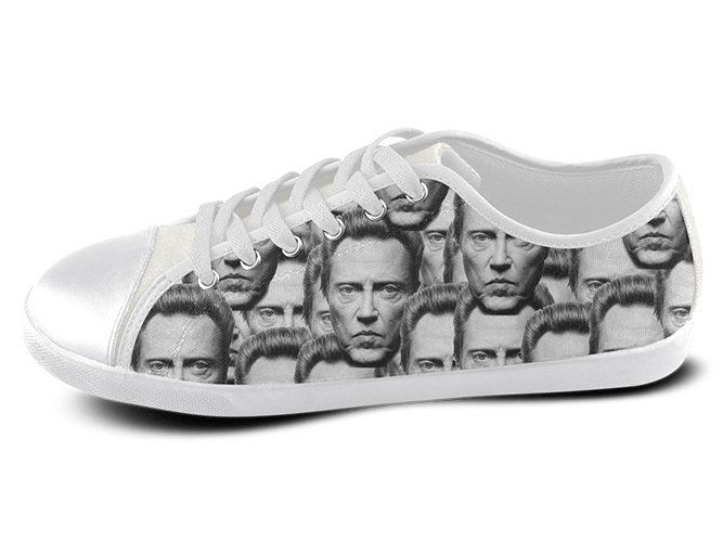 Christopher Walken Low Top Shoes Women's / 5 / White, Low Top Shoes - spreadlife, SpreadShoes  - 1
