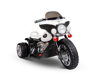 Police Kids Ride On Trike- Black & White