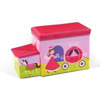 Kids Storage Toy Box Foldable Organiser - Pink