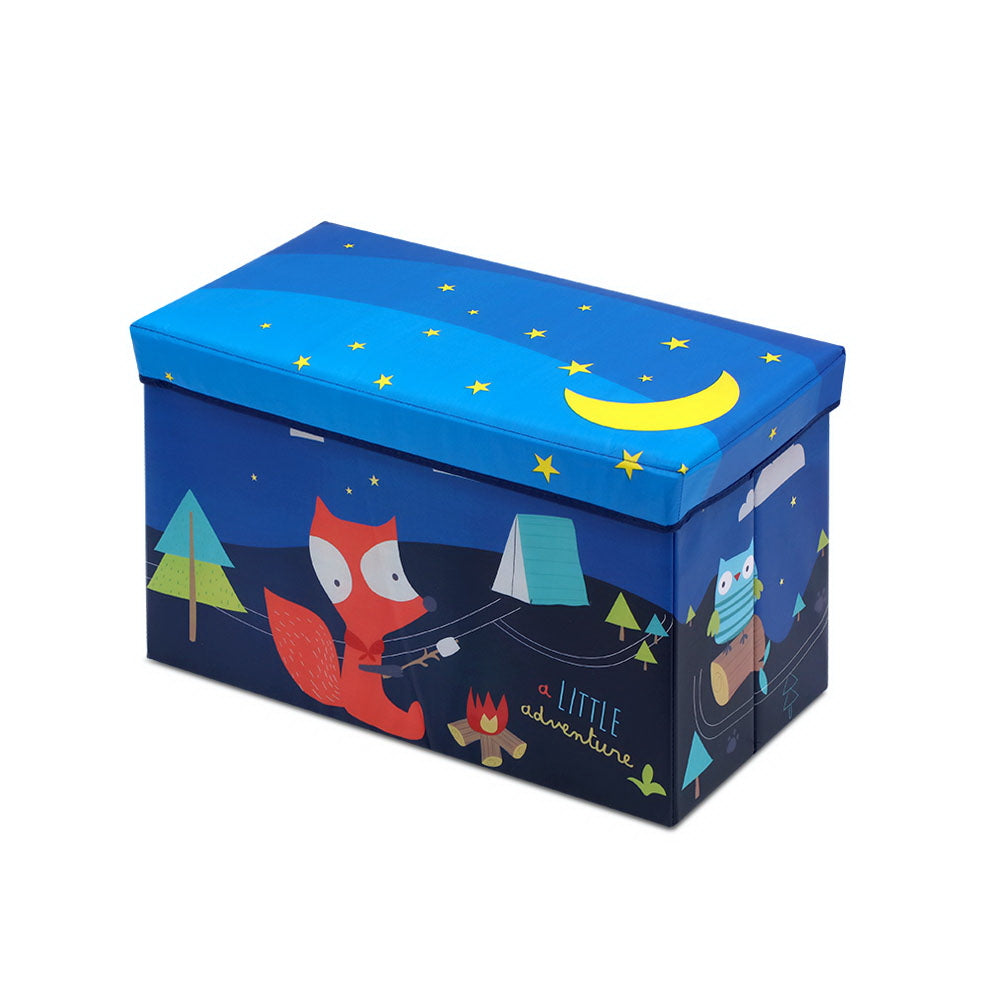 Kids Foldable Storage Toy Box - Blue