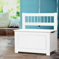 Artiss Kids Toy Box Storage Cabinet - White