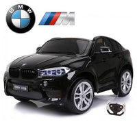 12v Licensed BMW X6M Kids Ride On Car - Metallic Black