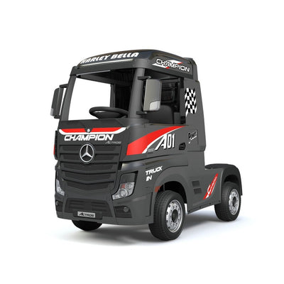Licensed MERCEDES-BENZ ACTROS Kids Ride on - Metallic Black