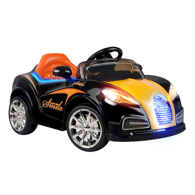 Bugatti Replica Ride On Car  - Black & Orange