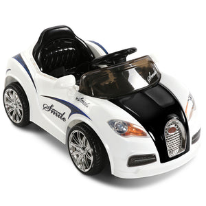 Bugatti Replica Ride On Car  - Black & White