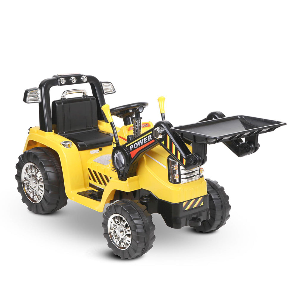 CASS Kids Ride On Bulldozer Digger Electric Car Yellow