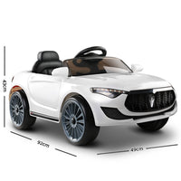 Maserati Style Kids Ride On Car - White