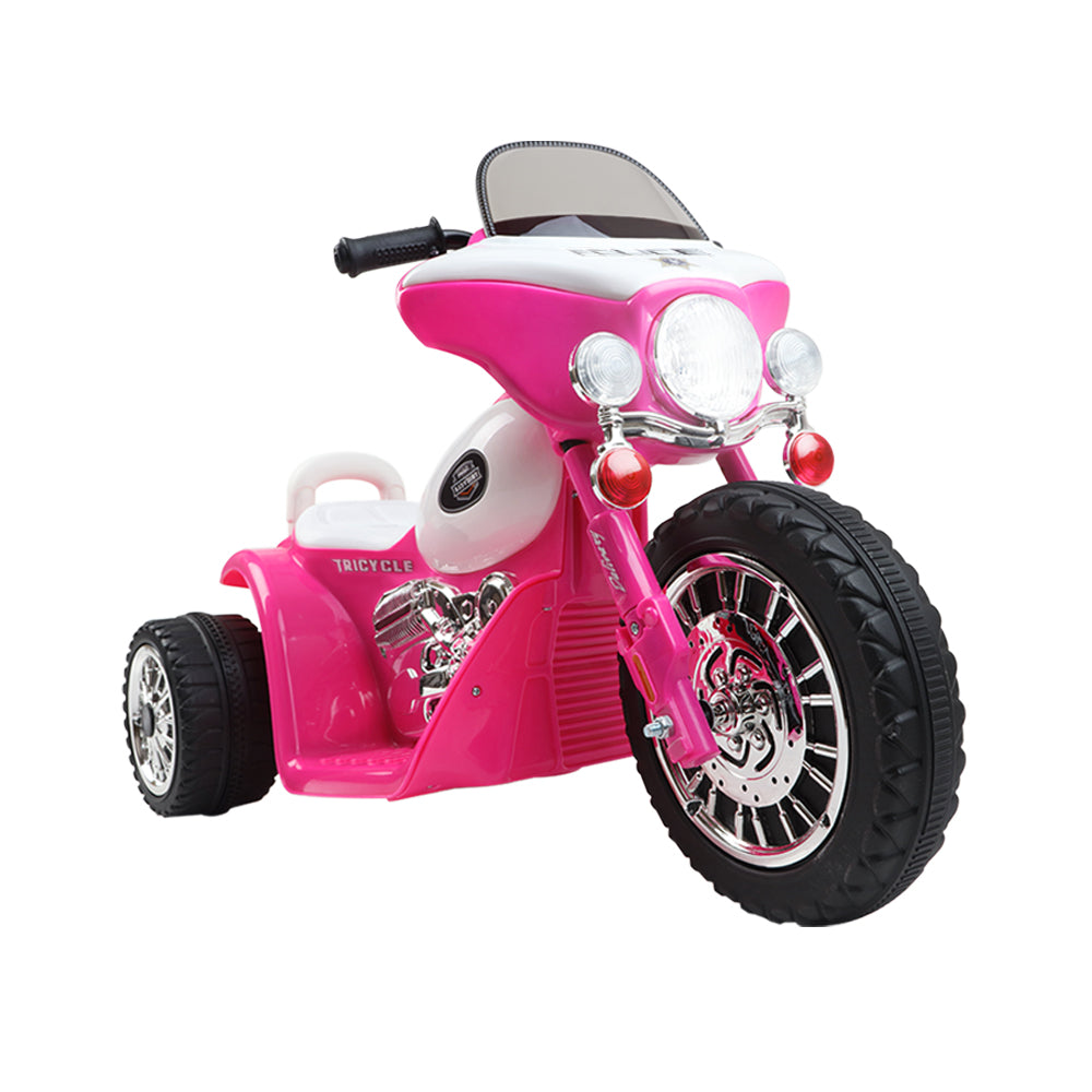 CASS Kids Police Ride On Motorbike - Pink