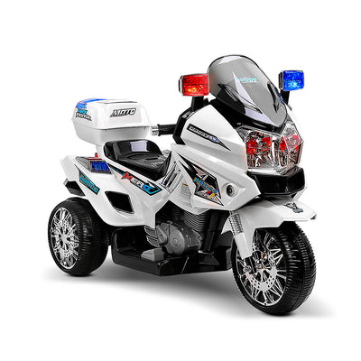 CASS Kids Police Ride On Motorbike - White