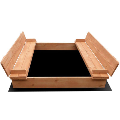 CASS Wooden Outdoor Sandpit Set - Natural Wood