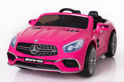 12v Licensed Mercedes AMG SL65 ride on car w/ touchscreen mp4 player - Pink