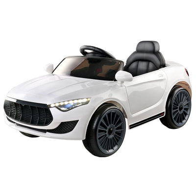 Cass Maserati Style Kids Ride On Car - White