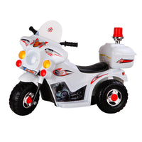 Cass Kids Ride On Motorbike - White