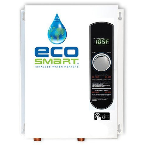 Tankless Water Heaters - EcoSmart ECO-18 Electric Tankless Water Heater 18KW 2+ Bath