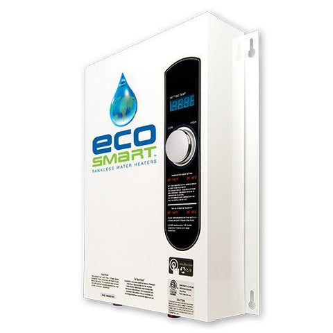 ecosmart eco-18 electric tankless water heater 18 kw 2+ – tank the tank