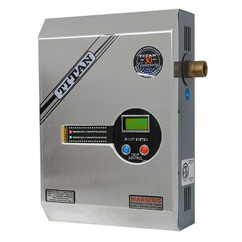 titan n120 s stainless electric tankless water heater 12kw. Black Bedroom Furniture Sets. Home Design Ideas