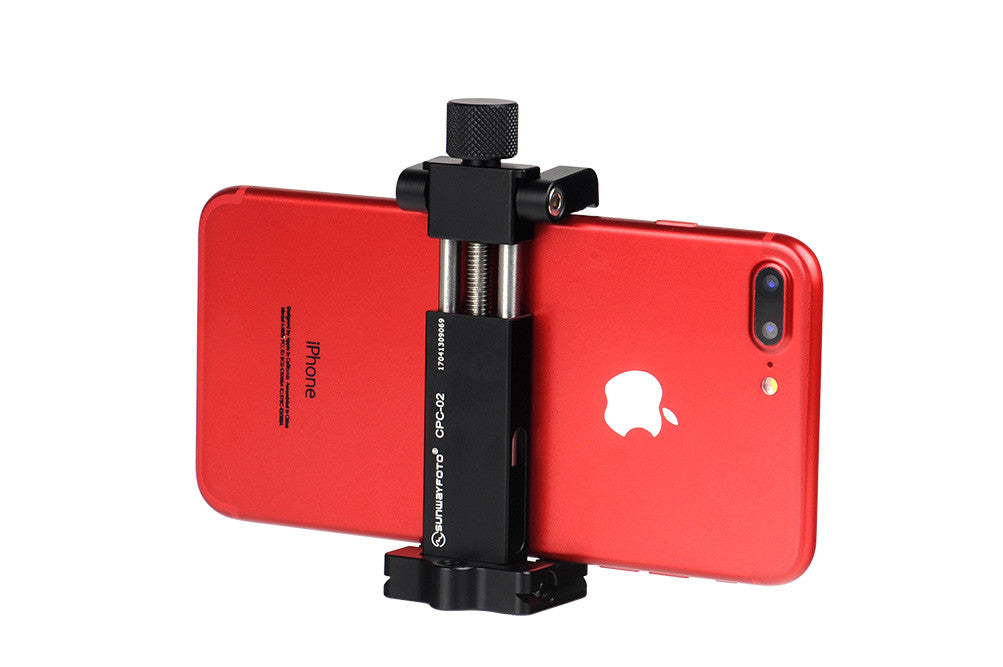SunwayFoto CPC-02 Professional Mobile Phone Clamp with Tripod Mount and Arca Dovetail
