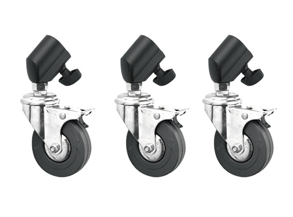 Caster Set Wheels w/Brakes For 22mm Leg Diameters