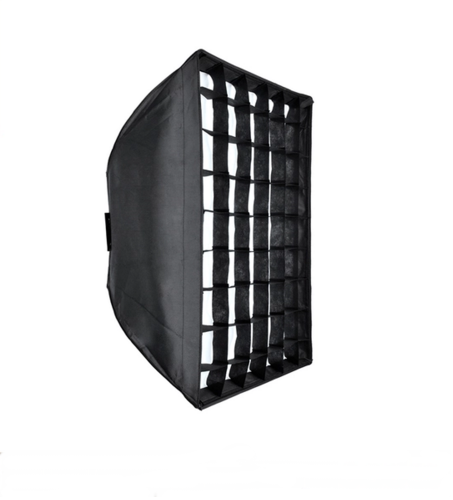 "Softbox 60cm x 60cm / 24"" x 24"" With Honeycomb Grid for Alienbees Einstein White Lightning"