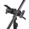 Double Pivoting Grip Clamp Photo Studio Lighting Light Boom Stand Metal