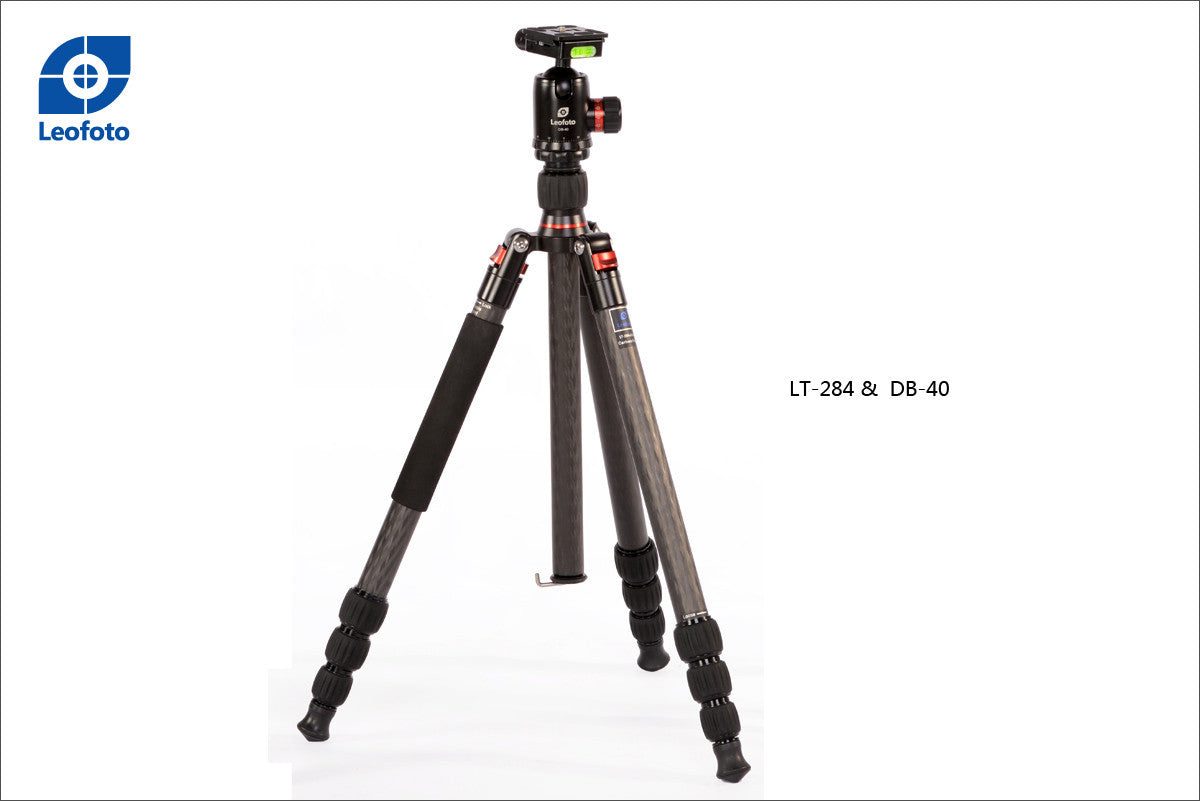 LEOFOTO PRO CARBON FIBER TRIPOD KIT LT-284C WITH DB-40 BALLHEAD