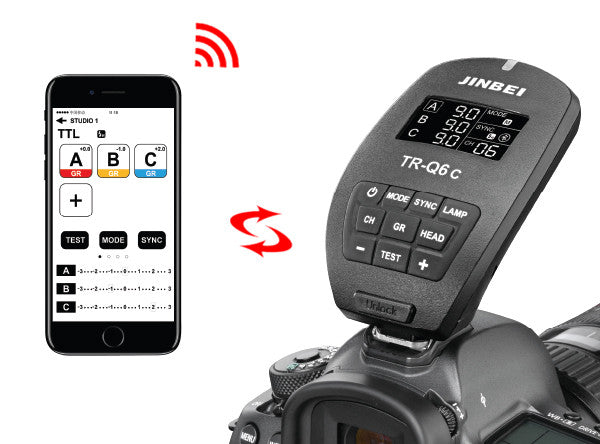 Jinbei TR-Q6C Bluetooth HSS TTL Flash Trigger For Canon/Nikon/Sony