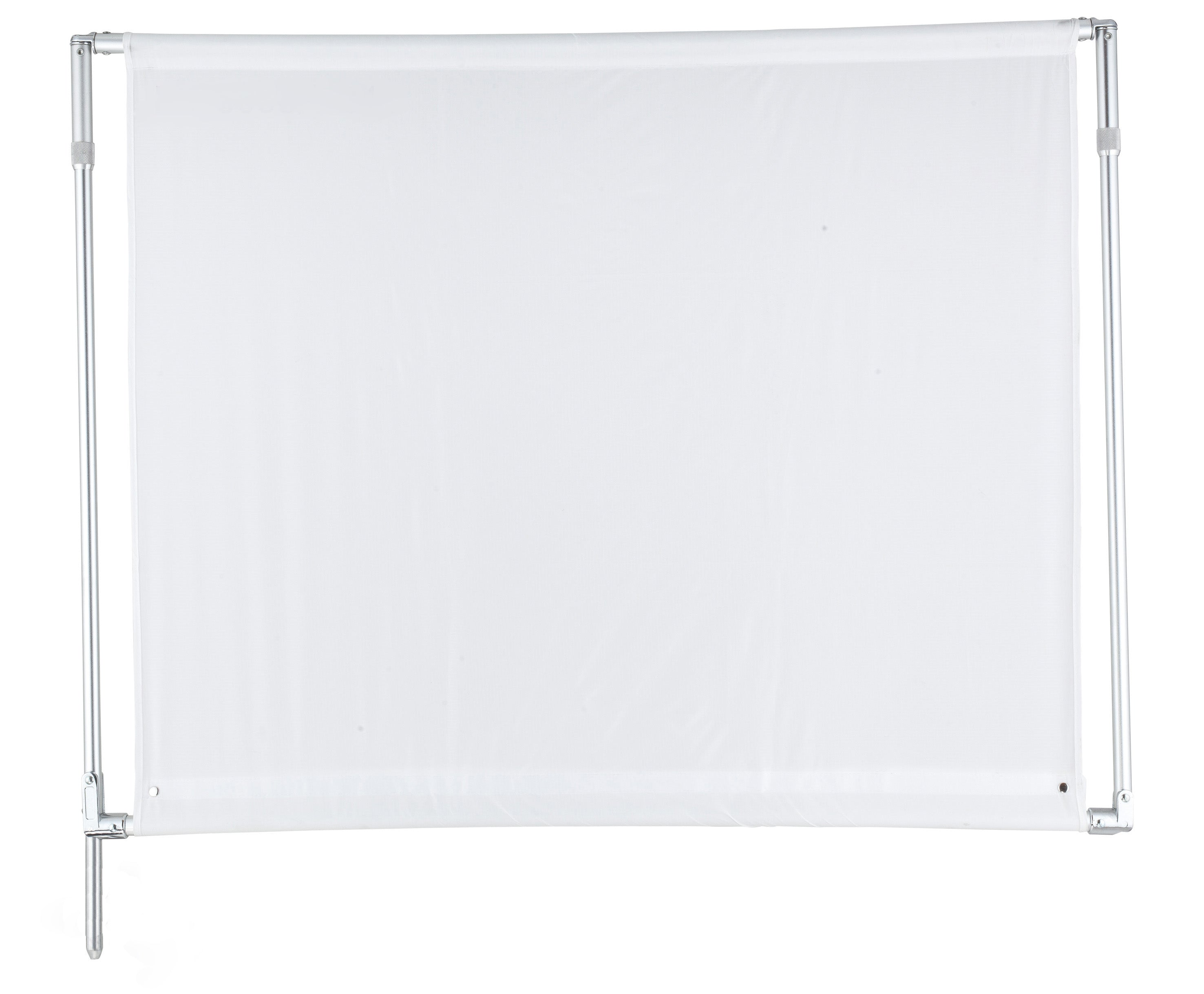 "Portable Solid Frame Scrim Flag with White Silk 48*48"" (120x120cm) Foldable"