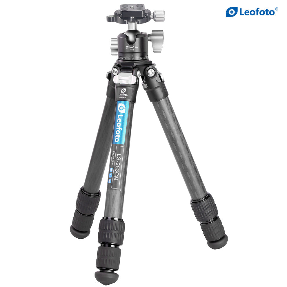 LEOFOTO LS-253CM TRIPOD WITH LH-30 BALLHEAD KIT TRAVEL TRIPOD