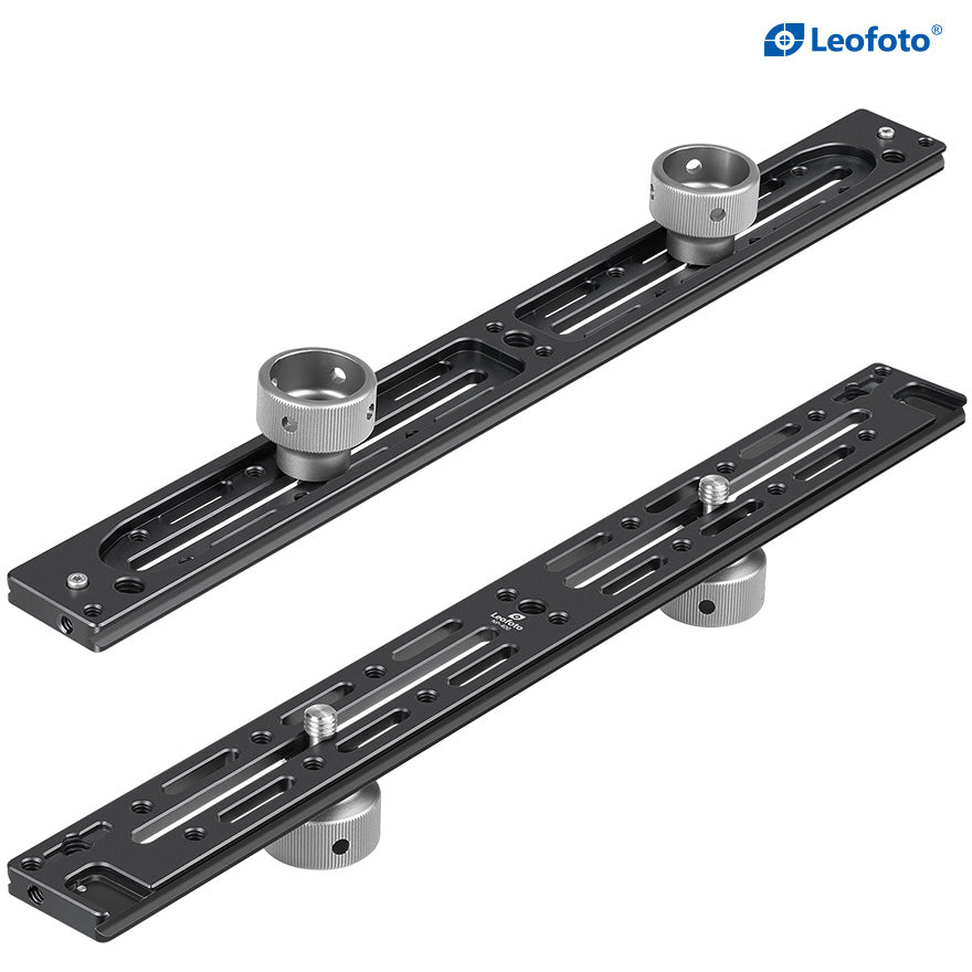 Leofoto NP-400 Multi-Purpose Rails for Two Cameras