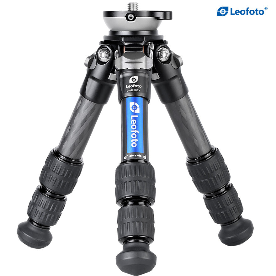 Leofoto LS-223CEX Ranger Series Portable Carbon Fiber Tripod 3 Section + Built-in Leveling Base 15° Tilt