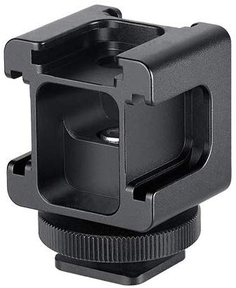 LEOFOTO FA-07 Multi Hotshoe Adapter Mount For Camera,Microphone and Lighting
