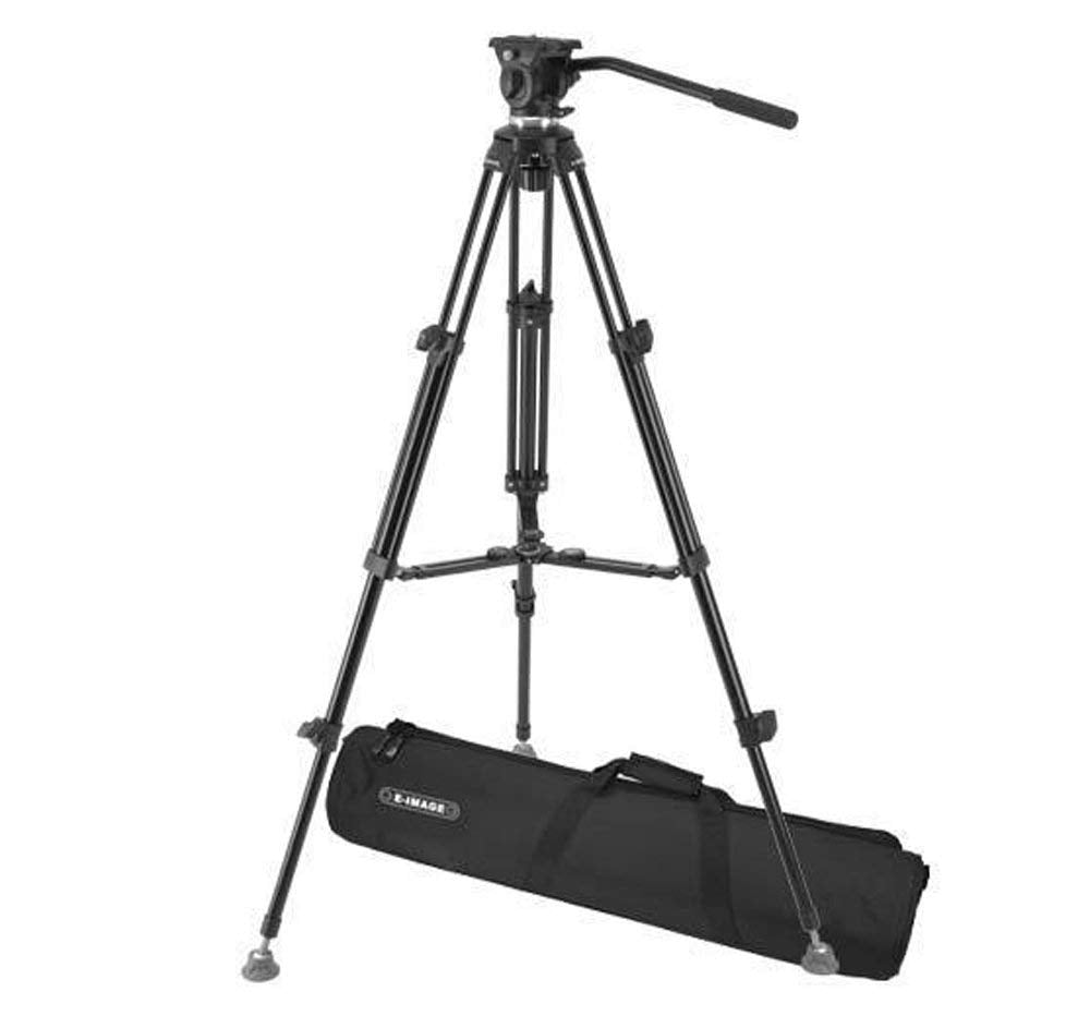 E-Image EK610 Fluid Drag Video Head and Tripod Kit