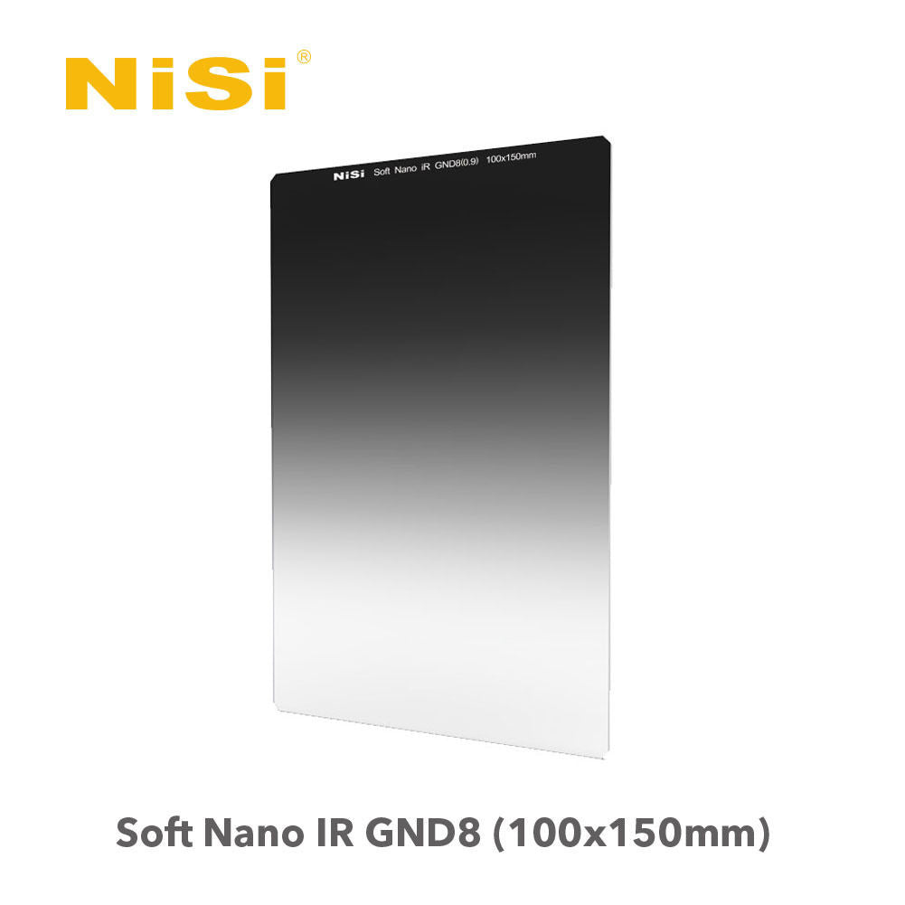 NiSi 100X150mm Nano Multi-coated Soft Graduated Neutral Density Filter GND8 ND8(0.9)