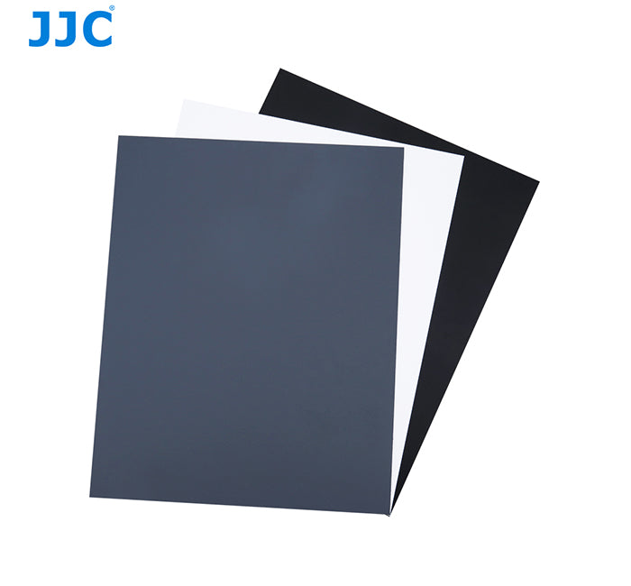 JJC GC-1II 3in1 3 Color Digital Grey White Balance Grey Card Set 254mm x 202mm