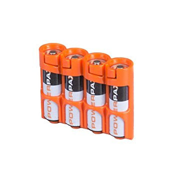 Storacell 4 AA Pack Battery Caddy (Orange)