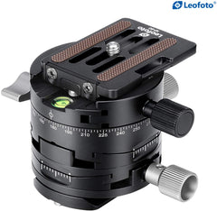 Leofoto G2 3 in 1 Panorama Geared Ballhead Dual-axis Adjustment, 3 Directions Controlled Separately With NP-60 Q-R Plate