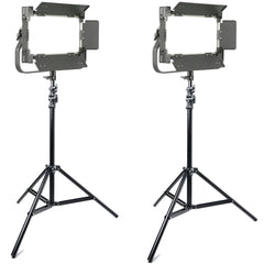 2x Pro Video LED Light Kit 800X Bi-Color 80W CRI95 With Barn Doors and Remote