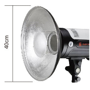 "Silver Beauty Dish 16"" 40cm With Diffuser For Bowens"