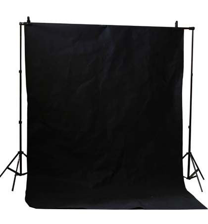 10 X 20 ft Black Muslin Photo Backdrop Background